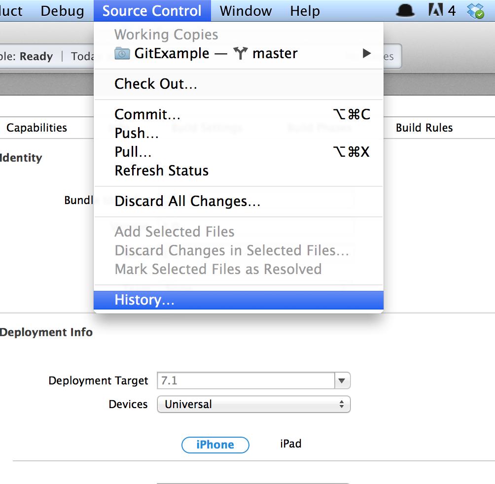 Tutorial iOS - Utilizando controle de versão GIT local no