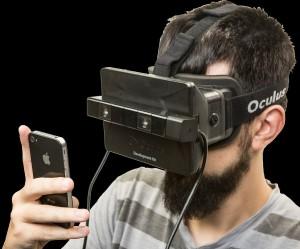 Figura 4: SIMVIZ, foi construído utilizando um Oculus Rift e uma Playstation 4 Eye Camera [6].